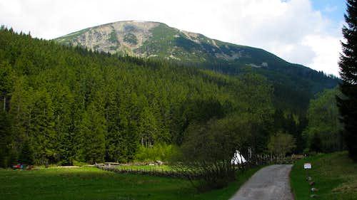Studniční hora from Obří důl