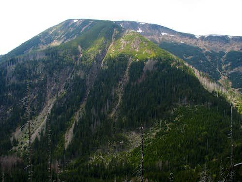 E side of Studniční hora
