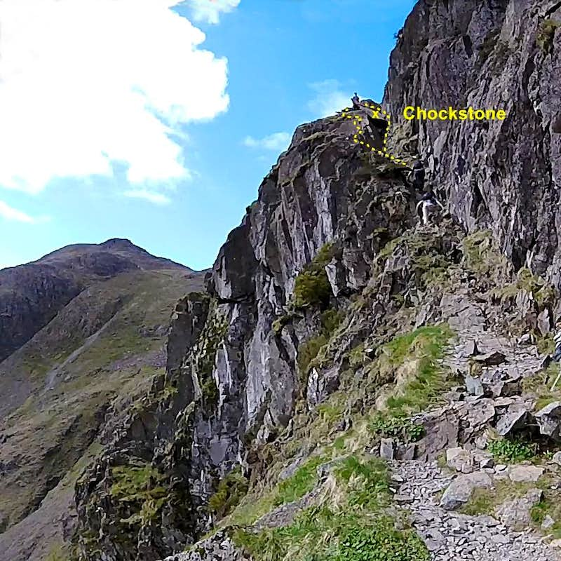 Crux pitch in mid section of Jacks Rake