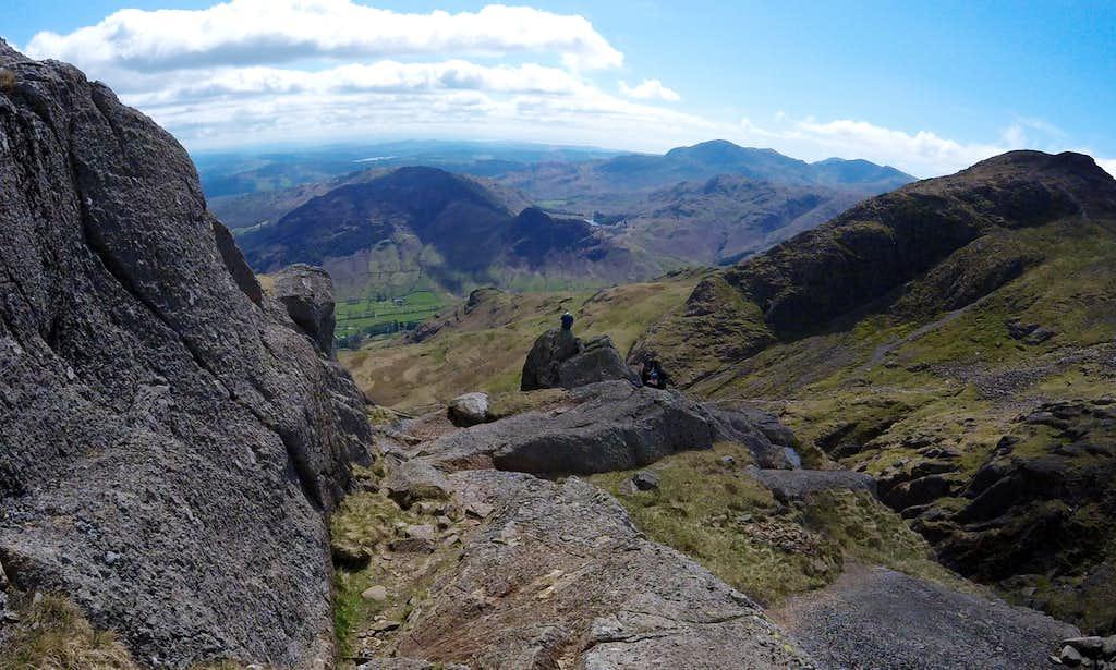Looking back at the top of Jacks Rake