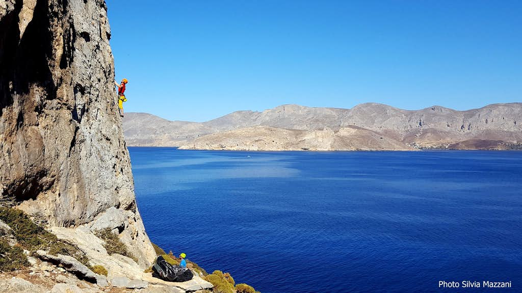 Climber on Irox crag