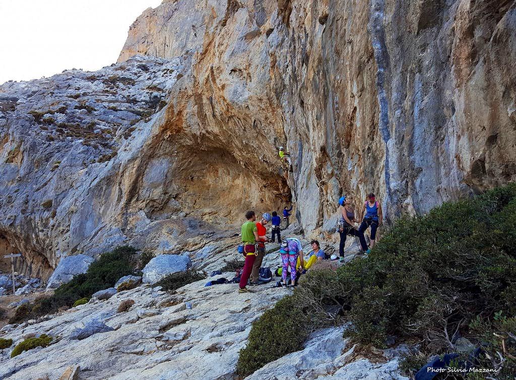 Rock climbing in Telendos