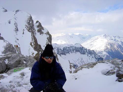 Very cold day in the summit...