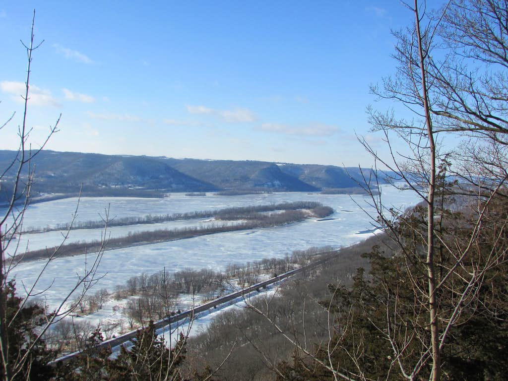 Mississippi River from Bunnels Bluff