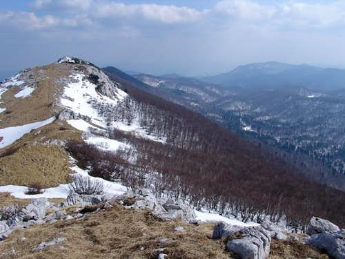 Mountain ridge of Bjelolasica...