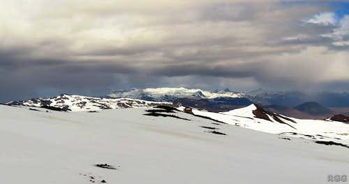 The Snæfellsnes peninsula from Snæfellsjökull