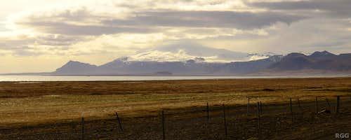 Distant view of Snæfellsjökull