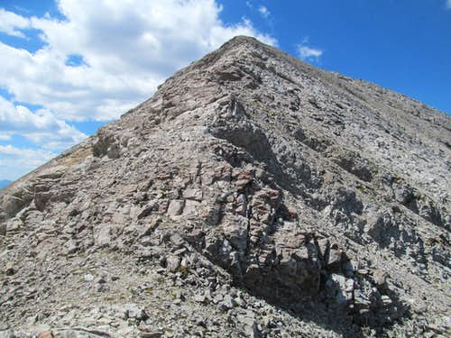 the only rocky portion of the East Ridge