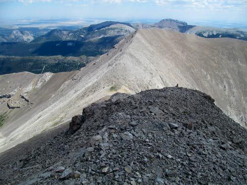 descending East Ridge