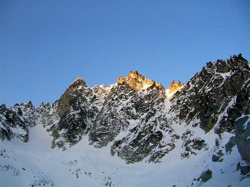 Colchuck Peak getting the...