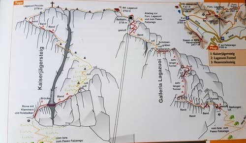 Kaiserjägersteig Route Topo