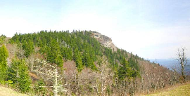 Devils Courthouse in panorama...