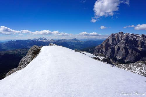 The West ridge of Lagazuoi