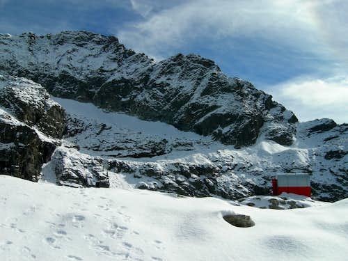 Early snow at Gastaldi bivouac