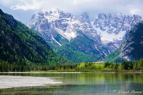 Cristallo from Lago di Landro