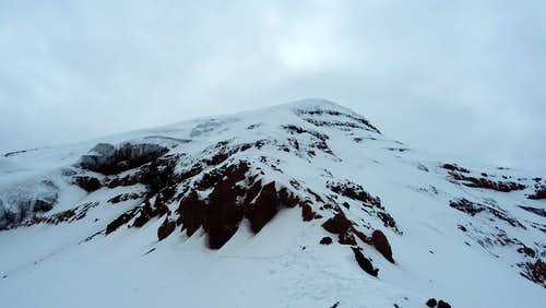 Pico Veintimilla, Chimborazo, from the ridge line near El Castillo