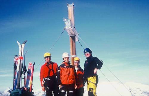 The Slovak skiers, who skied...