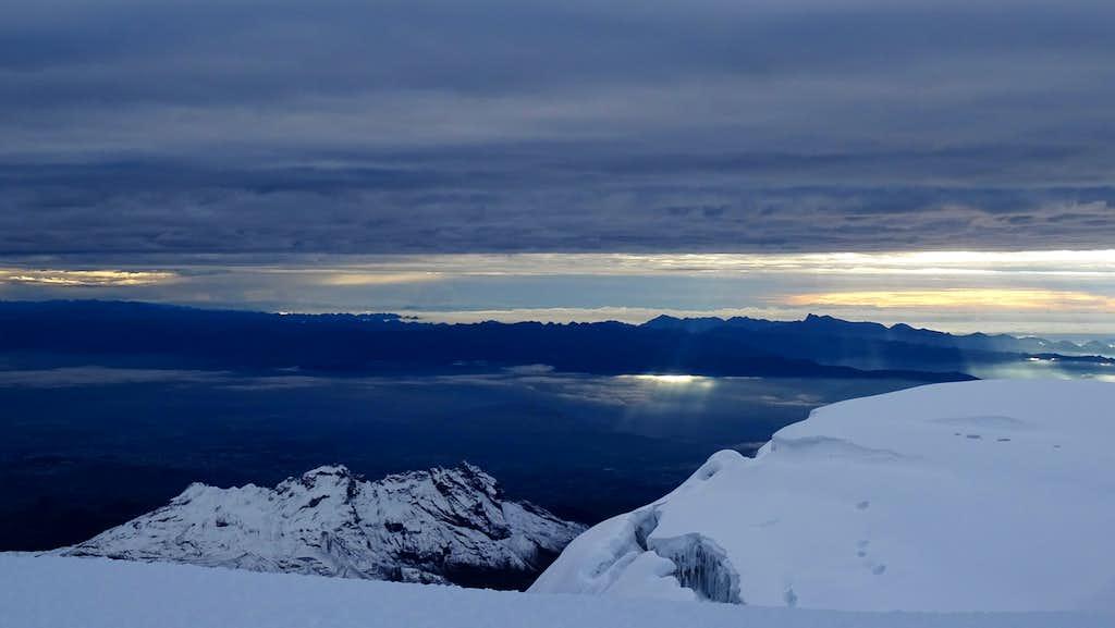 Early morning view from Pico Veintimilla, Chimborazo