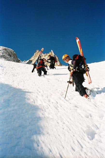the ascent in the North Face...