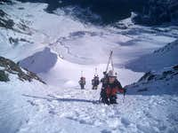 the ascent in North couloir...