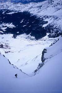 the ski descent in North...