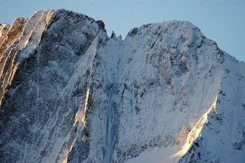 Les Bans summit ridge over...