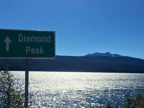 Diamond Peak, southern route via Crescent/Summit Lakes