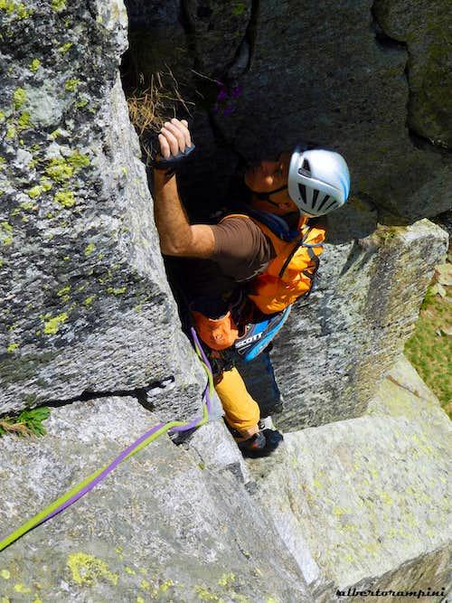 Climbing on Sergent