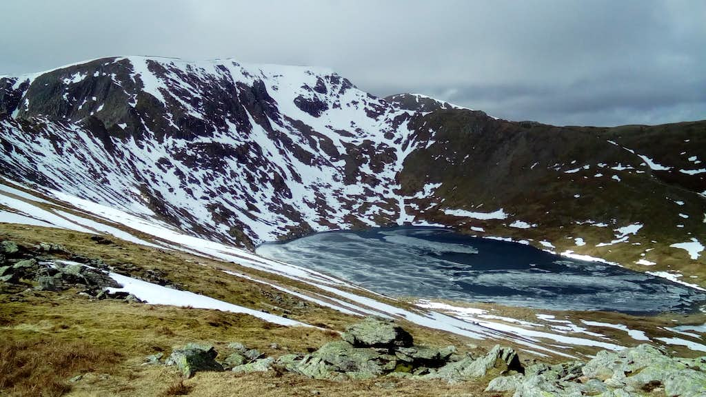 Helvellyn from the beginning of striding edge