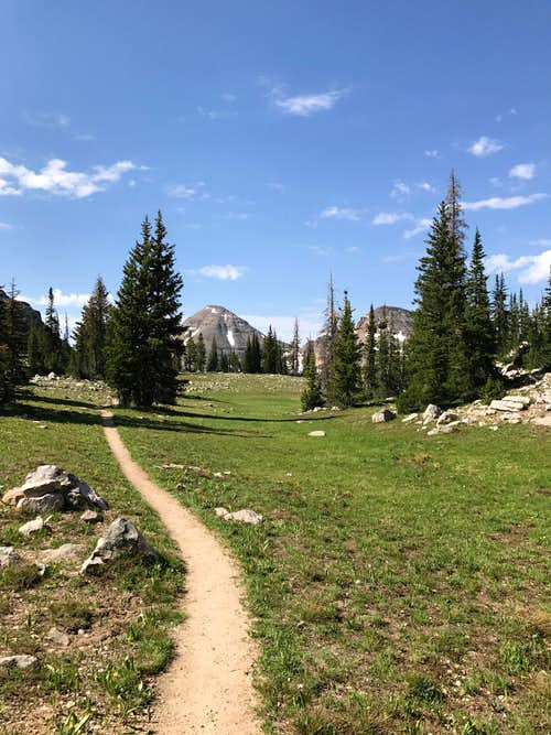 Trail between Lofty Lake and Kamas Lake. 2017