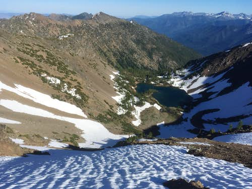 Snow Chute Down to Scatter Lake