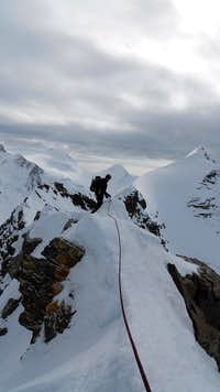 Lyskamm ridge west to east