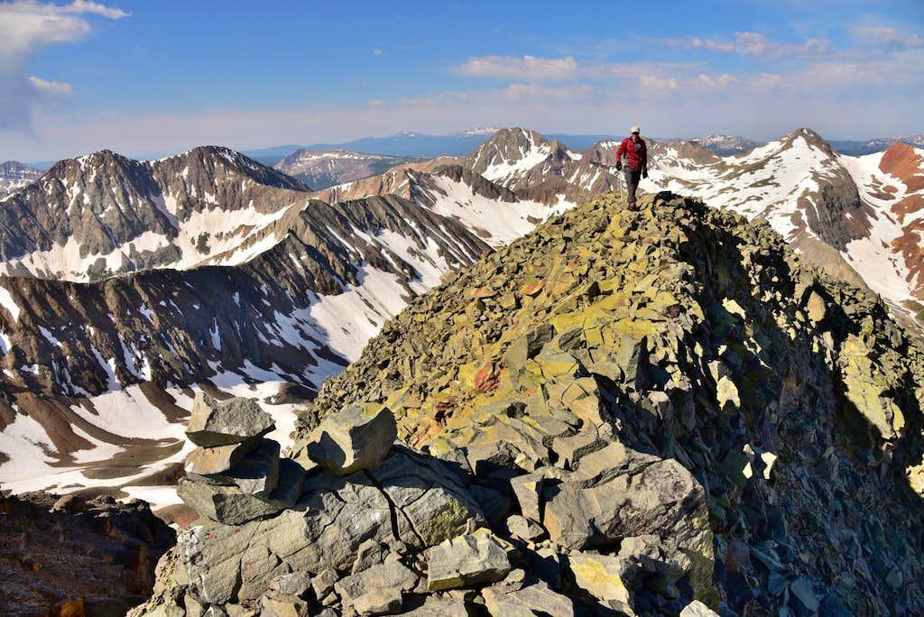 Vermilion Peak summit