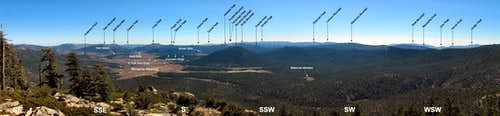 Labeled SSW Panorama from Brown Mtn