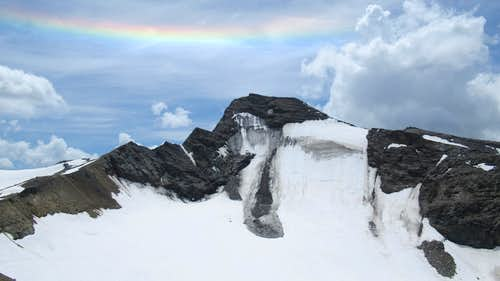 Rainbow on the Grande Aiguille Rousse