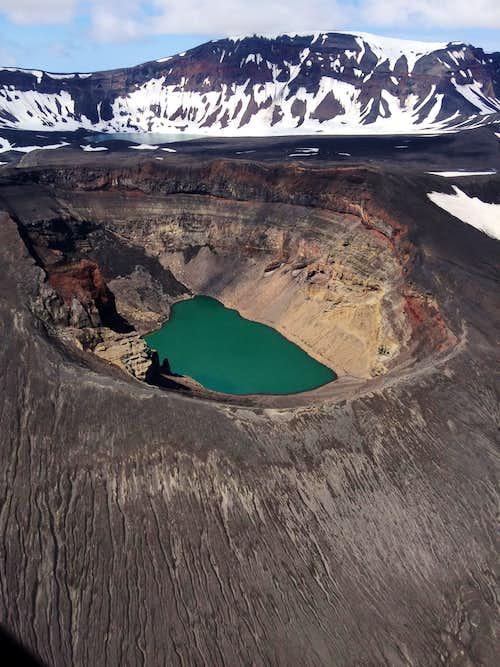 The Cone E crater at the Okmok Caldera