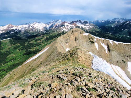 False summit and Mount Baldy