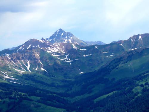 Zoomed view of Maroon Bells