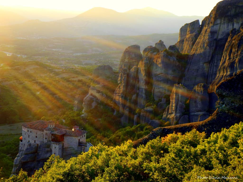 September sundown in Meteora