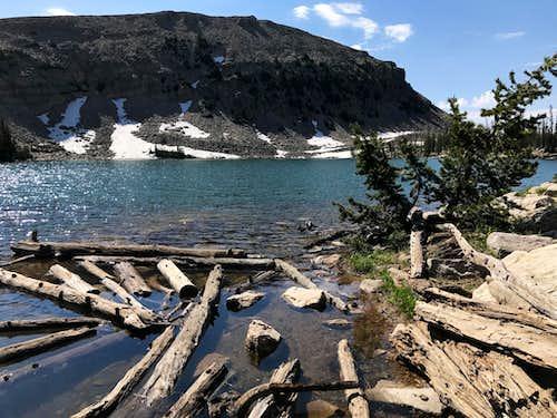 Kamas Lake from Lofty Lake Trail