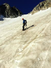 Climbing the North Glacier