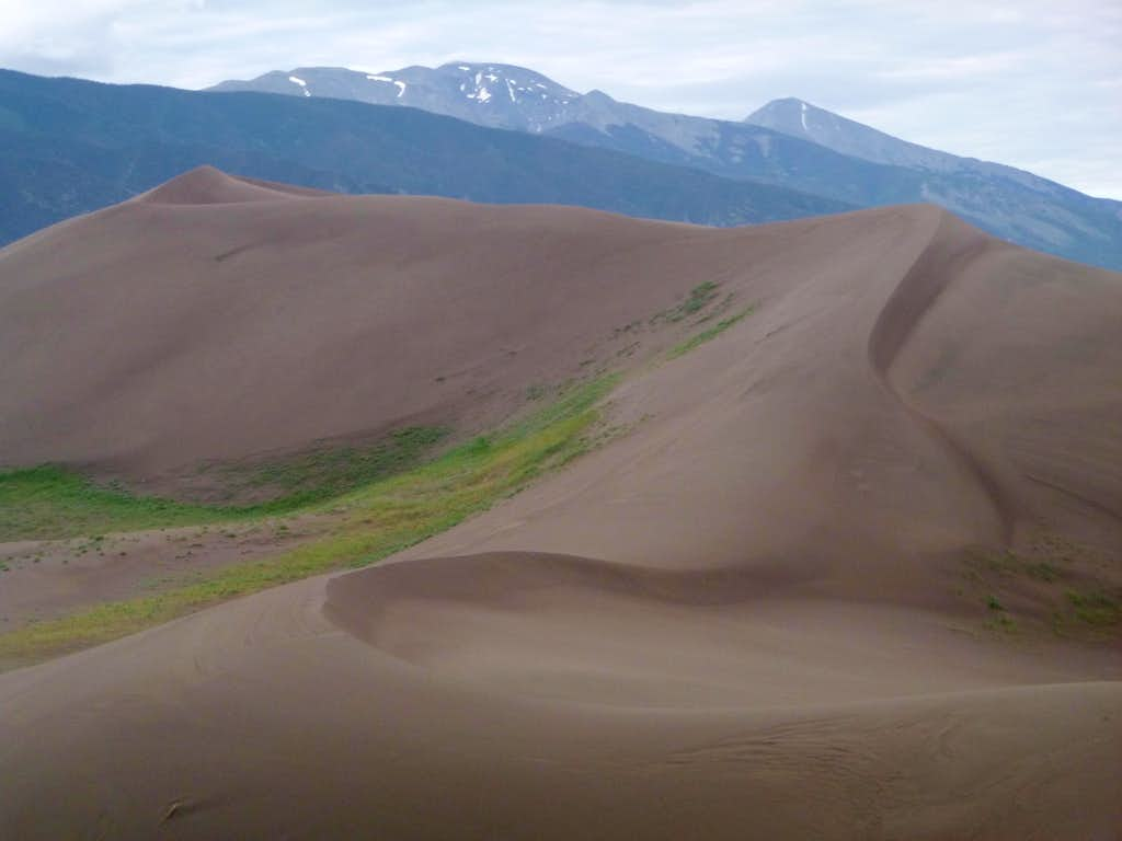Twin Peaks at Right from Great Sand Dunes National Park