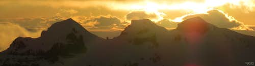 Hrútsfjallstindar panorama