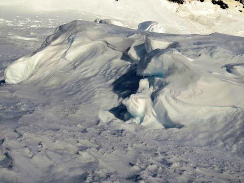 Bumpy area on the Svínafellsjökull glacier