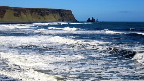 The Atlantic Ocean east of Dyrhólaey