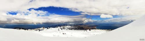 View from the slopes of Snæfellsjökull