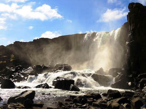 Öxarárfoss, waterfall at Þingvellir