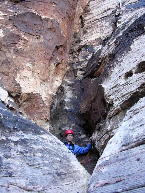 Mark at the spacious belay...