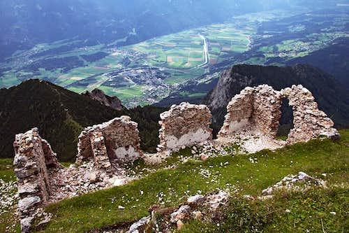 Gailtal valley from Dobrac