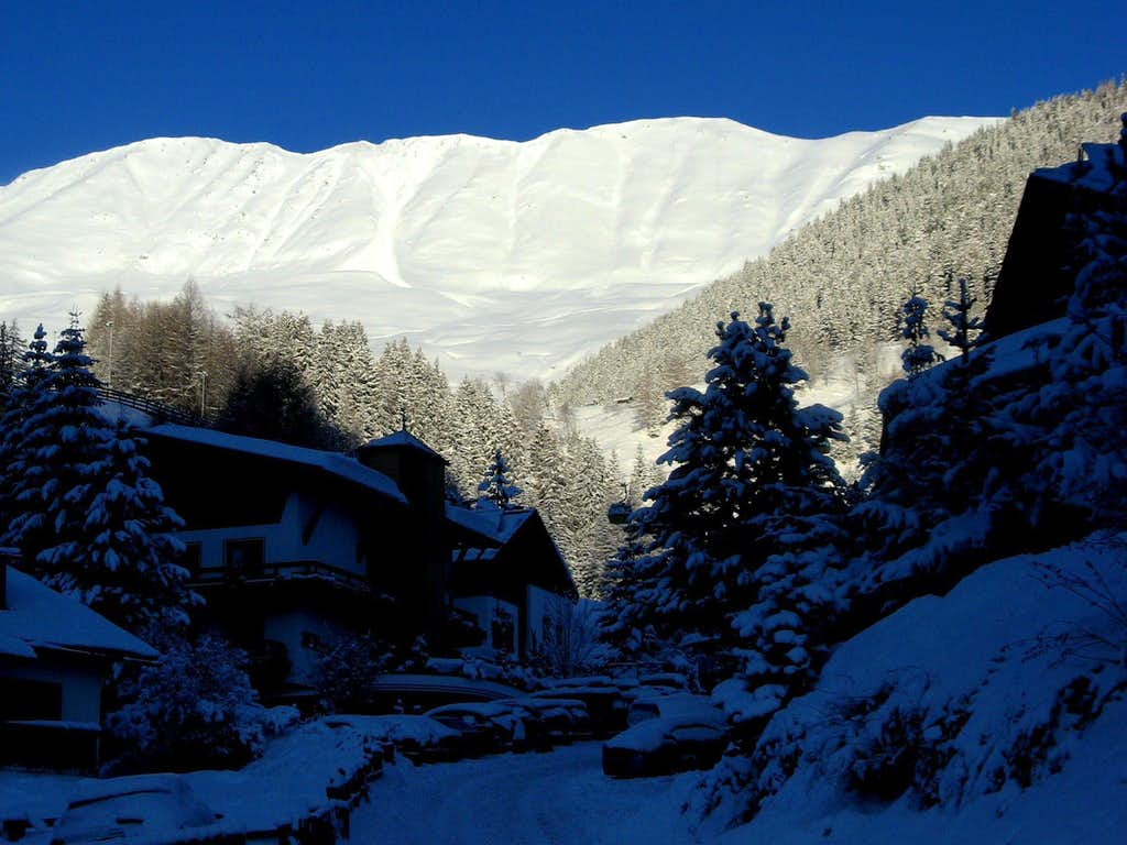 Brunnenkopf ridge in Winter